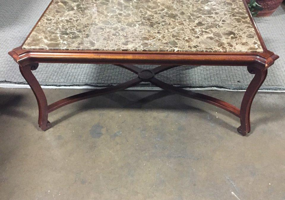 TROBOT-698 Marble Coffee Table 48.25″w x 34″d x 20.5″h, $75, Only 1